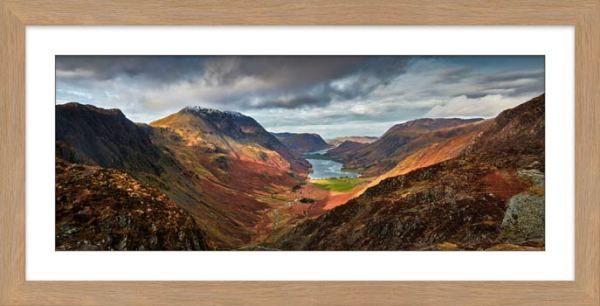 Buttermere Valley and High Crag - Framed Print with Mount
