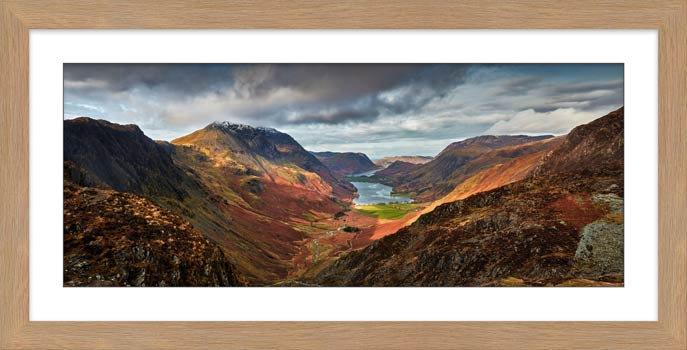 Buttermere Valley and High Crag - Framed Print