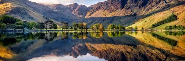 First Light at Buttermere - UltraHD Print with Aluminium Backing