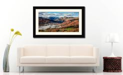 Chapel Stile Langdale - Framed Print with Mount on Wall