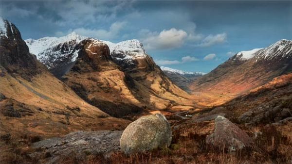 Glencoe Stones - Scotland Canvas