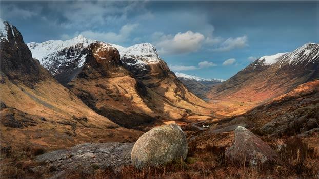 Glencoe Stones - Scotland Canvas