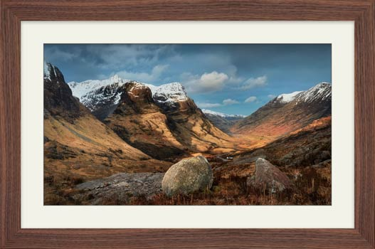 Glencoe Stones - Framed Print with Mount
