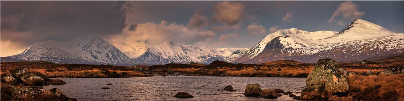 Loch Stainge From Rannoch Moor - Canvas Prints