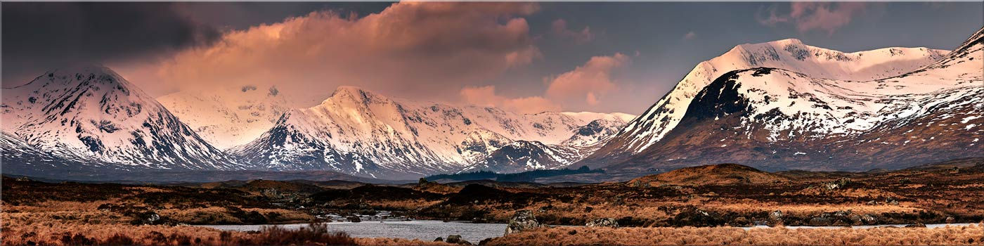Mountains Around Rannoch Moor - Canvas Print