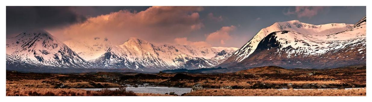 Mountains Around Rannoch Moor - Scotland Print