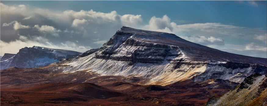 Winter on the Trotternish Mountains - Canvas Print