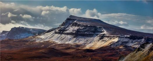 Winter on the Trotternish Mountains - Scotland Canvas