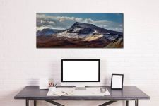 Late winter snow on the Trotternish Mountains on the Isle of Skye - Print Aluminium Backing With Acrylic Glazing on Wall