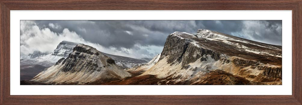 Snow on the Cleat and Dun Dubh - Framed Print with Mount