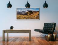 Quiraing Boulder Field - White Maple floater frame with acrylic glazing on Wall
