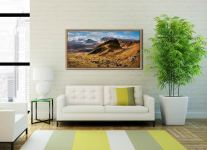 Quiraing Boulder Field - Oak floater frame with acrylic glazing on Wall