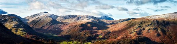 Borrowdale Mountains Panorama - UltraHD Print with Aluminium Backing