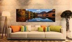 Buttermere Autumn Trees - UltraHD Print with Aluminium Backing on Wall