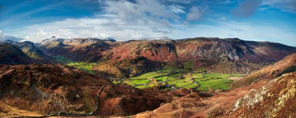 The Green Fields of Borrowdale - UltraHD Print with Aluminium Backing
