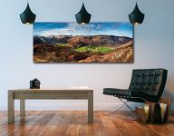 The Green Fields of Borrowdale - UltraHD Print with Aluminium Backing on Wall