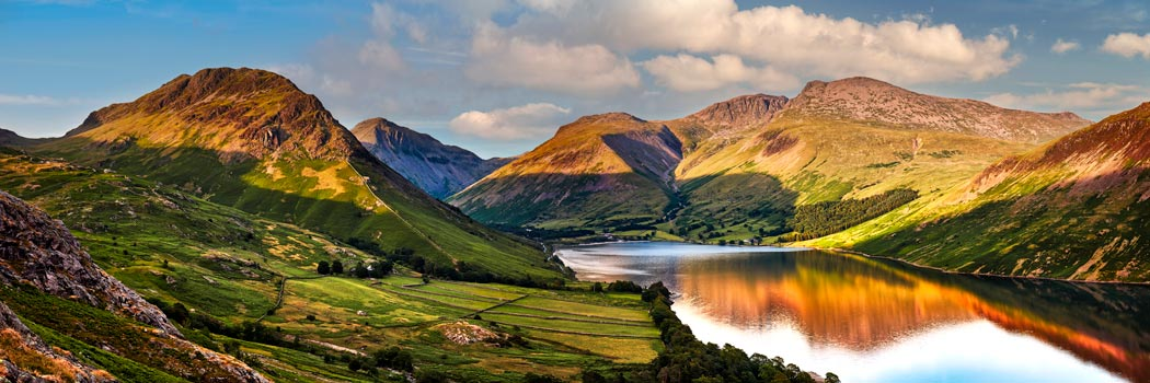 Wast Water in the Evening Sun - UltraHD Print with Aluminium Backing