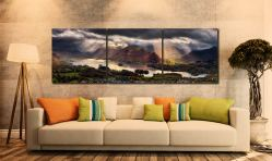Darkness and Light Over Derwent Water - UltraHD Print with Aluminium Backing on Wall