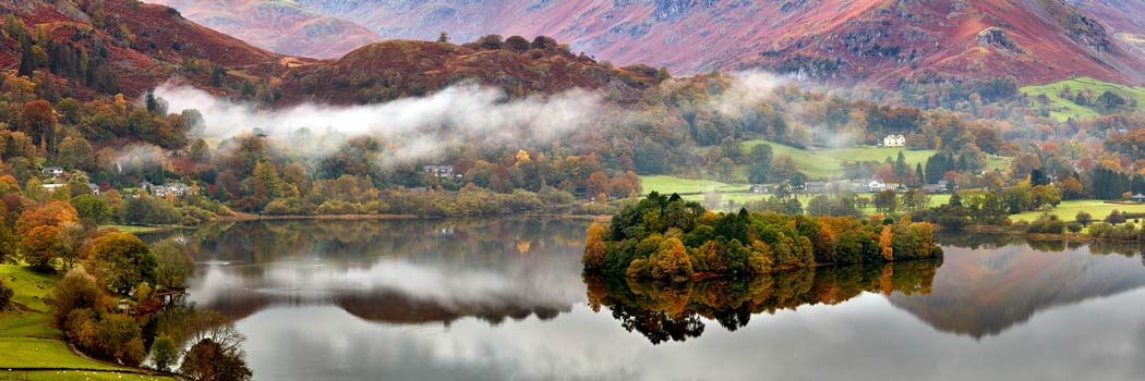 Grasmere Autumn Mists - UltraHD Print with Aluminium Backing