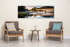 River Brathay Misty Panorama - UltraHD Print with Aluminium Backing on Wall