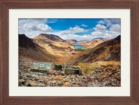 Sunshine and Shadows Over Warnscale Bothy - Framed Print with Mount