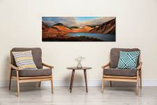 Wast Water Late Afternoon Sun - UltraHD Print with Aluminium Backing on Wall