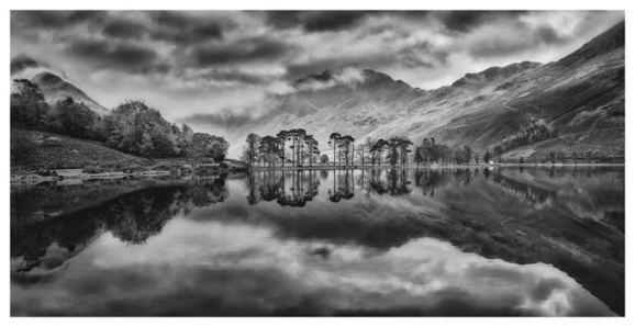 Grey Skies Over Buttermere - Sepia Print