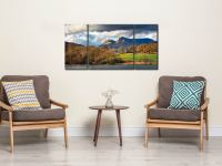 Golden Trees of Langdale - 3 Panel Wide Centre Canvas on Wall
