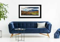 Golden Trees of Langdale - Framed Print with Mount on Wall