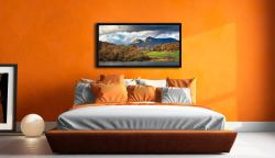 Golden Trees of Langdale - Black oak floater frame with acrylic glazing on Wall