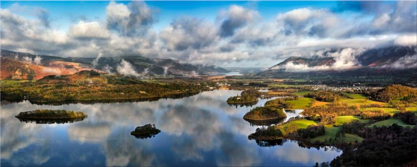 Dawn Clouds Derwent Water - Lake District Canvas