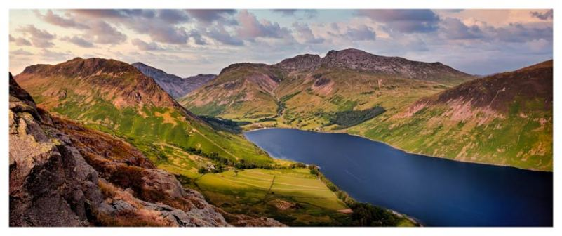 Yewbarrow and Scafell - Lake District Print