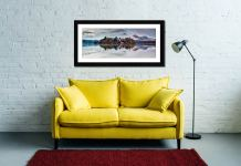 Derwent Isle Rising Mists - Framed Print with Mount on Wall