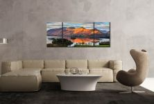 Cat Bells Sunlight - 3 Panel Wide Mid Canvas on Wall
