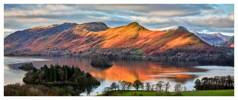 Cat Bells Sunlight - Lake District Print