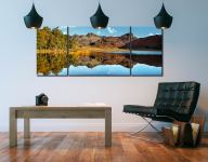 Blea Tarn Blue Skies - 3 Panel Wide Mid Canvas on Wall