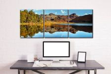 Blea Tarn Blue Skies - 3 Panel Canvas on Wall