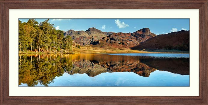 Blea Tarn Blue Skies - Framed Print with Mount
