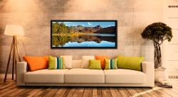 Beautiful summer's day at Blea Tarn in Langdale - Black oak floater frame with acrylic glazing on Wall