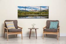 Elterwater Summer - 3 Panel Wide Mid Canvas on Wall