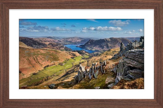 Ullswater from St Sunday Crag - Framed Print with Mount