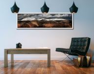 Fairfield Winter Panorama - White Maple floater frame with acrylic glazing on Wall