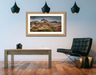 Harrison Stickle Pavey Ark - Framed Print with Mount on Wall