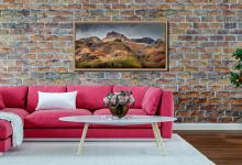 Harrison Stickle Pavey Ark - Oak floater frame with acrylic glazing on Wall