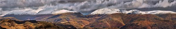 Snow Capped Mountains Panorama Canvas