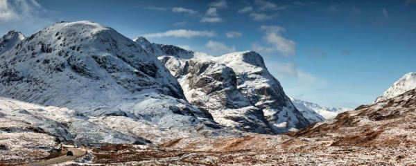 Glencoe in the Snow - UltraHD Print with Aluminium Backing
