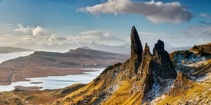 Old Man of Storr and Cuillins - UltraHD Print with Aluminium Backing