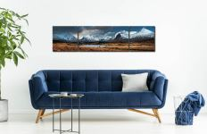 Rannock Moor Winter Panorama - 3 Panel Wide Centre Canvas on Wall
