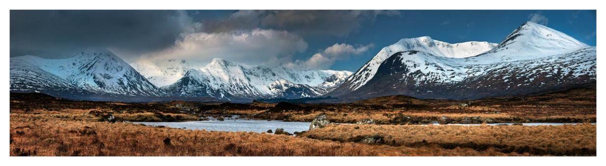 Rannoch Moor Winter Panorama - Scotland Print