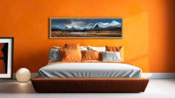 Rannoch Moor Winter Panorama - Oak floater frame with acrylic glazing on Wall